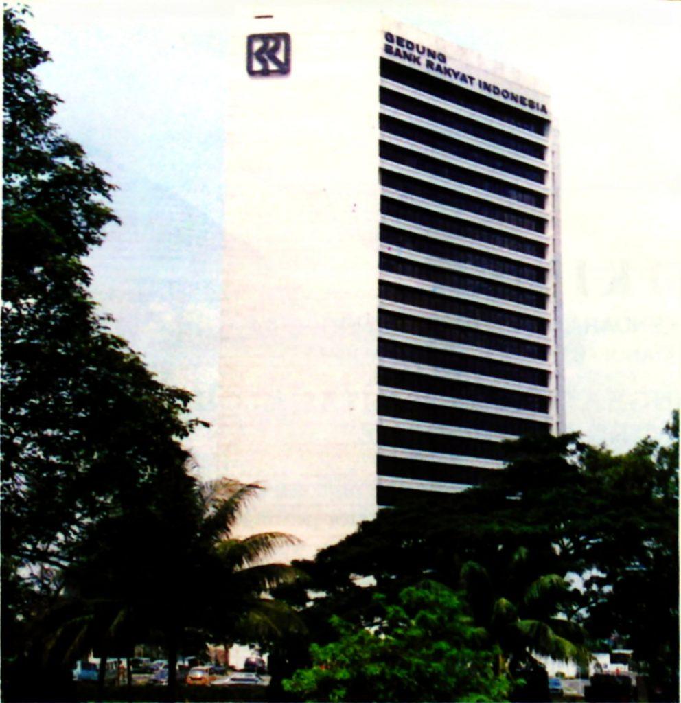 Gedung BRI I pada tahun 1980an, sebelum berganti penampilan.