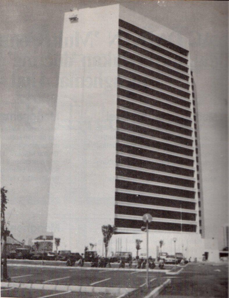Gedung BRI I pada tahun 1985, setelah pembangunan selesai.