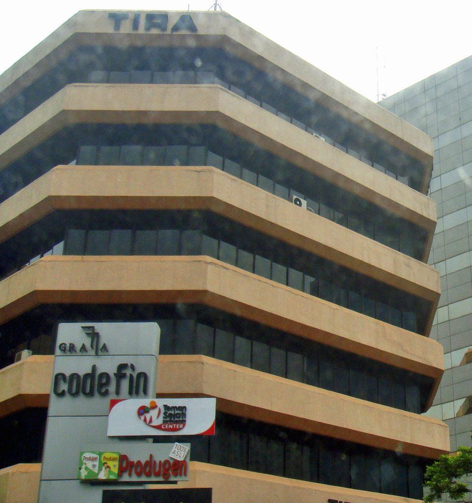 Gedung Kedutaan Besar Arab Saudi saat masih bernama Gedung TIRA/Graha Codefin