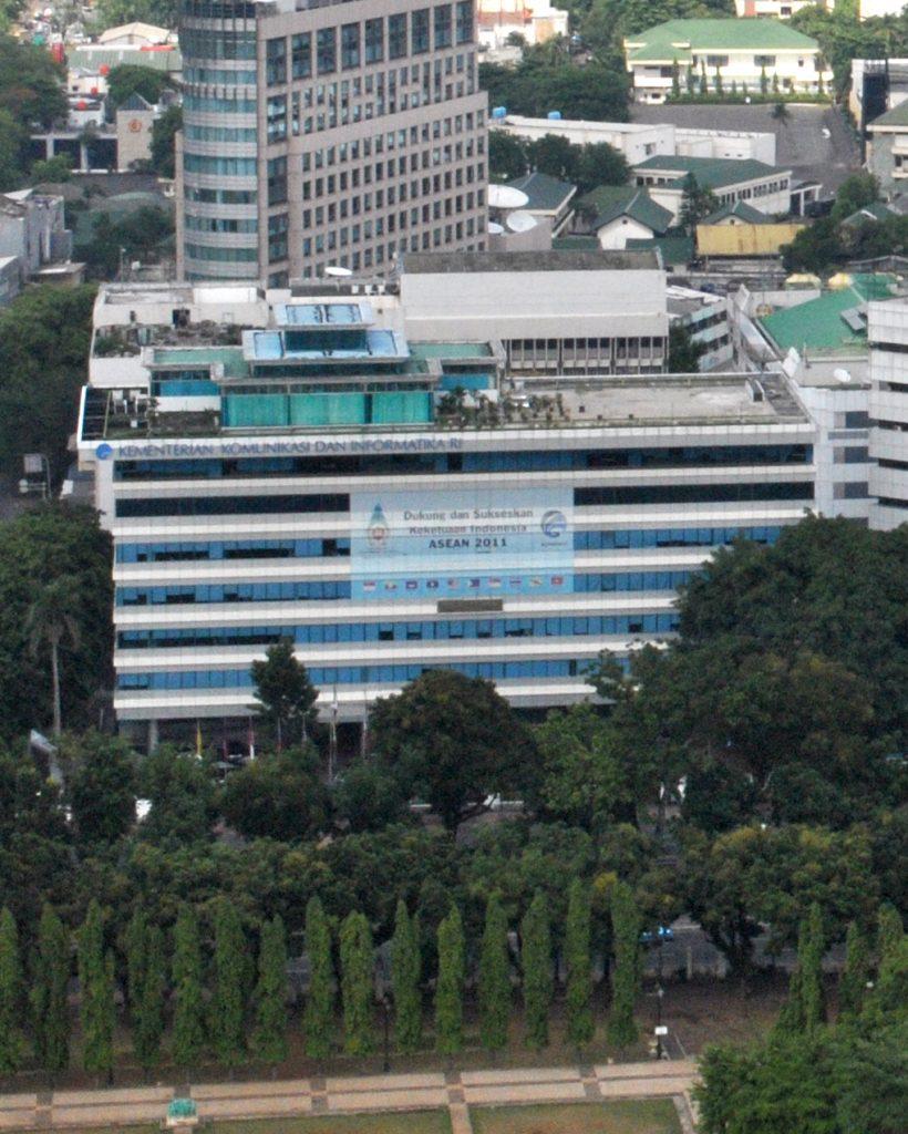 Gedung Kemenkominfo dari Monas, 2011