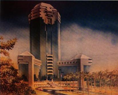Sketsa Gedung Sapta Pesona, 1990