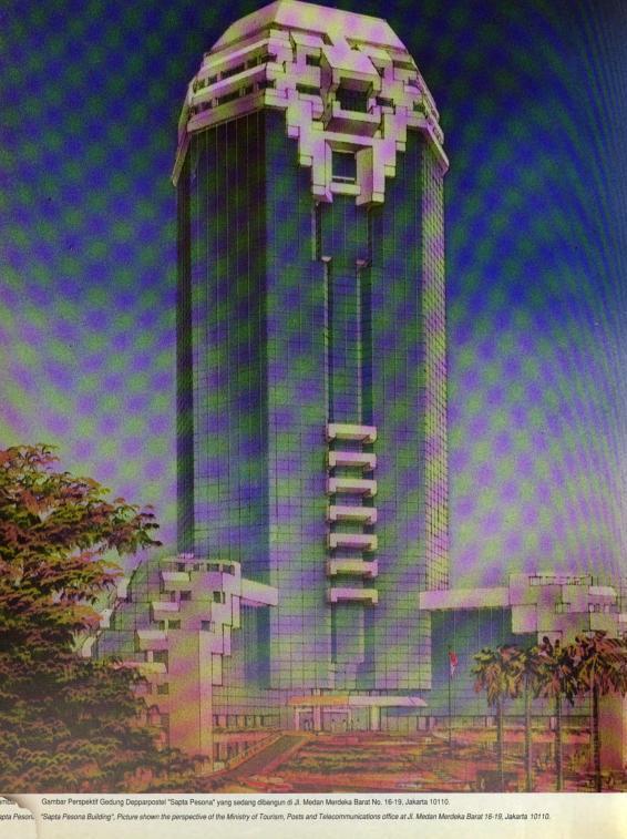 Sketsa final Gedung Sapta Pesona, 1992