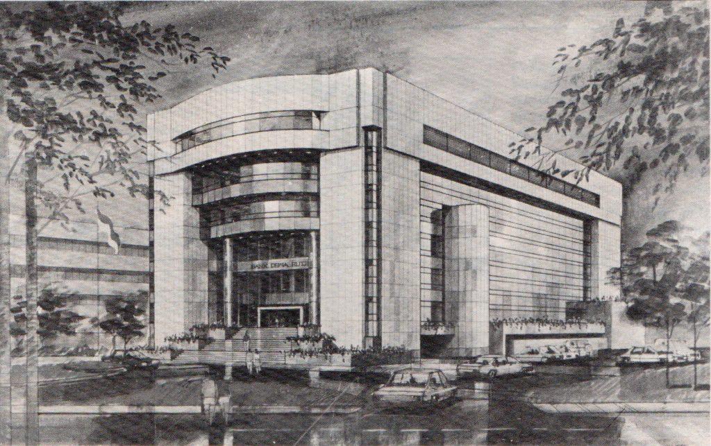 Sketsa Gedung Bank Dewa Rutji