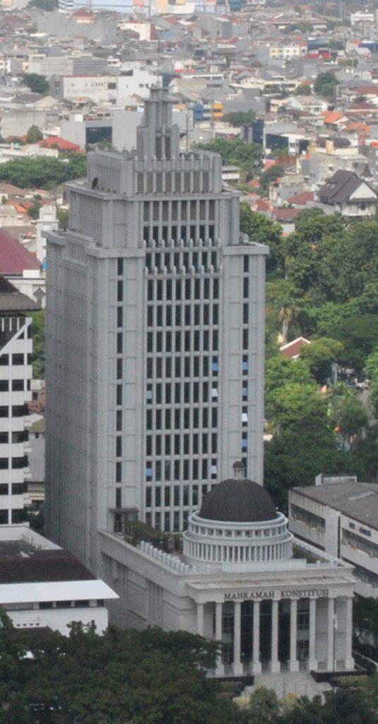 Gedung Mahkamah Konstitusi dari Monas, 2011