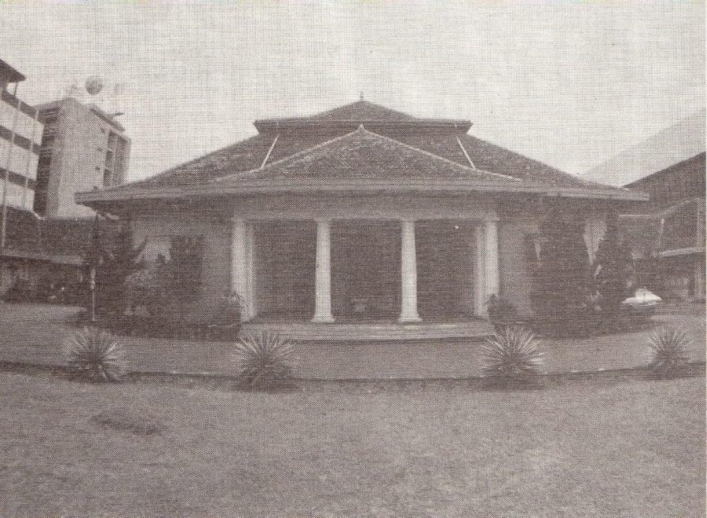 Gedung yang kelak dibongkar untuk membangun Gedung Kementerian BUMN