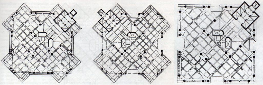 Susunan rangka lantai struktur Intiland Tower