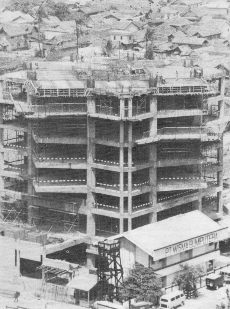 Wisma Bumiputera Jakarta saat konstruksi, 1983-84